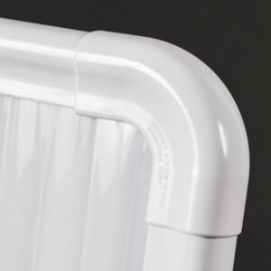 Termoarredo radiante policarbonato finitura bianco