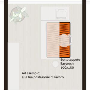Sottotappeto riscaldante elettrico formato 100x150 cm
