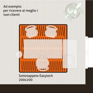 Sottotappeto riscaldante elettrico formato 200x200 cm